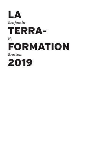La terraformation : 2019