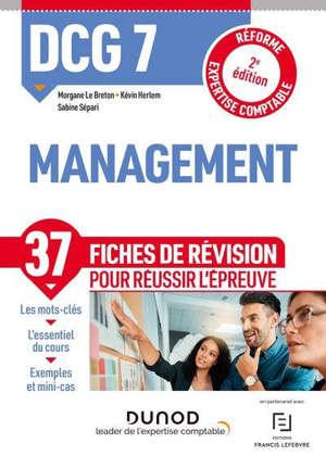 DCG 7, management : fiches de révision : 2021-2022