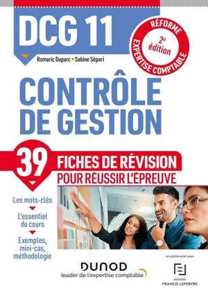 DCG 11, contrôle de gestion : fiches de révision : 2021-2022