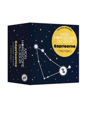 Capricorne : mon horoscope du jour : tout 2022