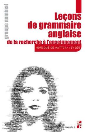 Leçons de grammaire anglaise : de la recherche à l'enseignement, Groupe nominal