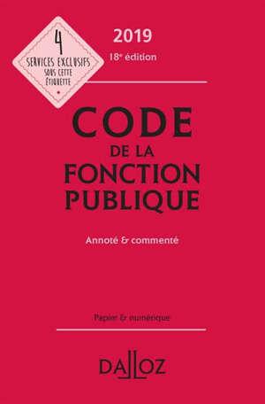 Code de la fonction publique 2019