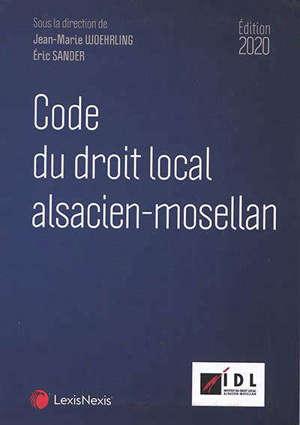 Code du droit local alsacien-mosellan : 2020