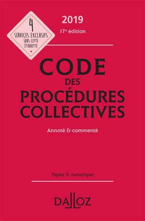 Code des procédures collectives 2019
