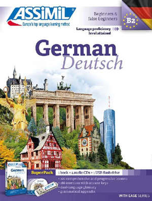 German : beginners & false beginners, language proficiency level attained B2 : super pack