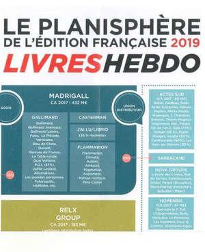 Le planisphère 2019 de l'édition française
