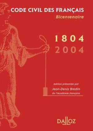Code civil des Français : 1804