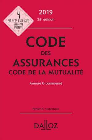 Code des assurances 2019; Code de la mutualité 2019