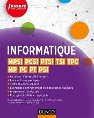 Informatique : MPSI, PCSI, PTSI, TSI, TPC, MP, PC, PT, PSI