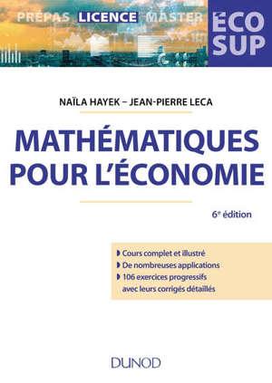 Mathématiques pour l'économie : analyse-algèbre