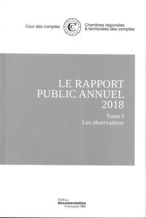 Le rapport public annuel 2018