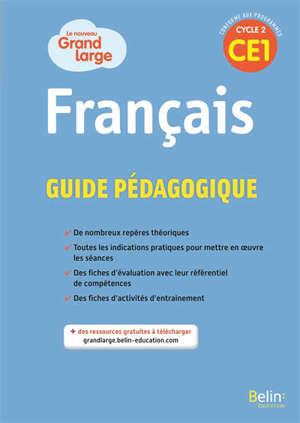 Grand large CE1 : guide pédagogique 2019