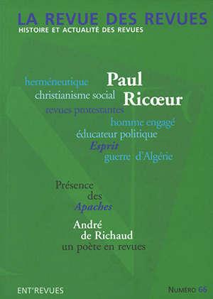 Revue des revues (La), n° 66. Paul Ricoeur et les revues