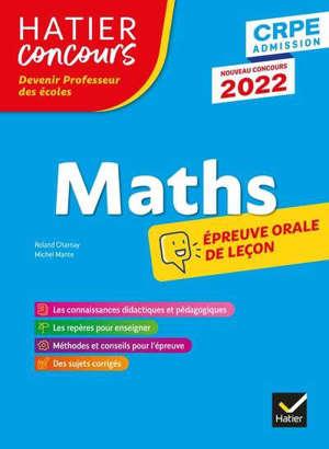 Mathématiques : CPRE 2022 : épreuve orale d'admission