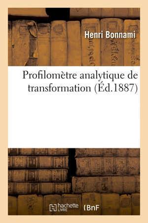 Profilomètre analytique de transformation Règle pour la transformation des grades en degrés et réciproquement