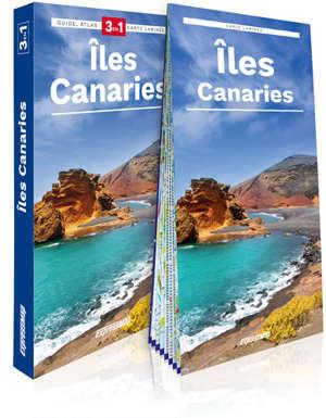 Iles Canaries : 3 en 1 : guide + atlas + cartes laminée