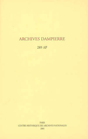 Archives Dampierre : 289 AP : inventaire