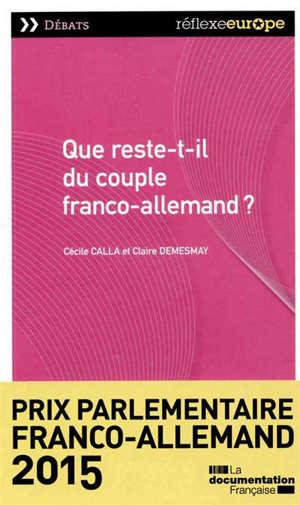 Que reste-t-il du couple franco-allemand ?