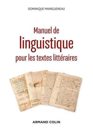 Manuel de linguistique pour les textes littéraires
