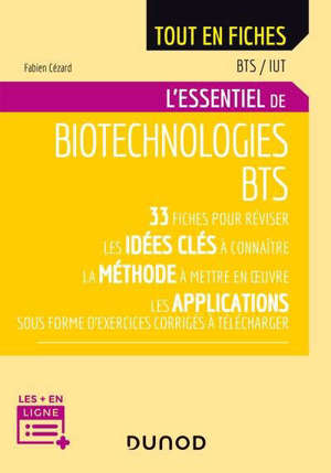 L'essentiel de biotechnologies : BTS