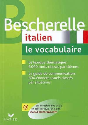 Italien, le vocabulaire