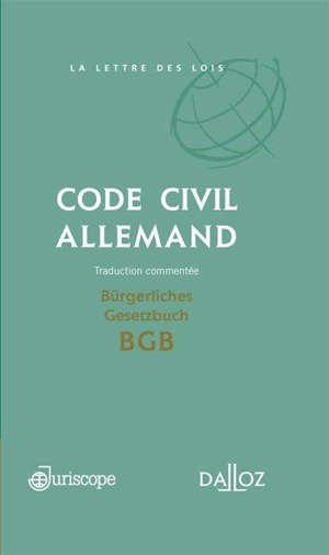 Code civil allemand = BGB Bürgerliches Gesetzbuch