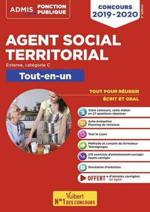 Agent social territorial : externe, catégorie C : tout-en-un, concours 2019-2020