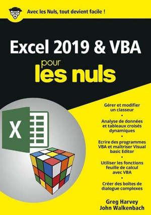 Excel 2019 & VBA pour les nuls