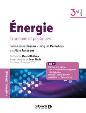Energie : économie et politiques