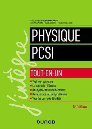 Physique PCSI : tout-en-un