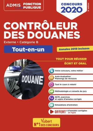 Contrôleur des douanes : externe, catégorie B : tout-en-un, concours 2020