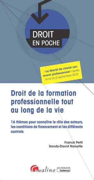 Droit de la formation professionnelle tout au long de la vie : 16 thèmes pour connaître le rôle des acteurs, les conditions de financement et les différents contrats
