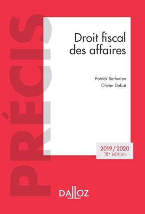 Droit fiscal des affaires : 2019-2020