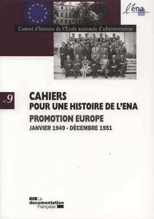 Promotion Europe : janvier 1949-décembre 1951