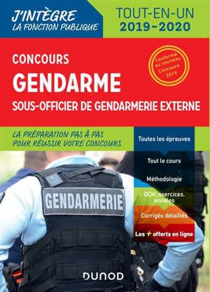 Concours gendarme, sous-officier de gendarmerie externe : tout-en-un 2019-2020
