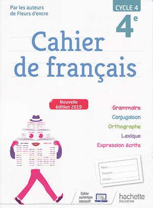 Cahier de français 4e, cycle 4