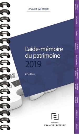 L'aide-mémoire du patrimoine : 2019