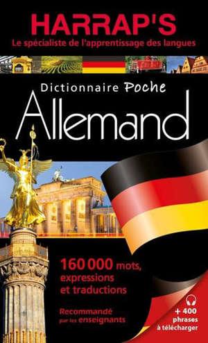 Harrap's dictionnaire poche allemand : 160.000 mots, expressions et traductions