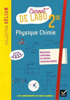 Physique chimie 2de : carnet de labo