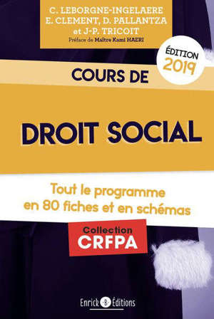 Cours de droit social : tout le programme en fiches et en schémas