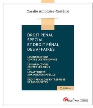 Droit pénal spécial et droit pénal des affaires