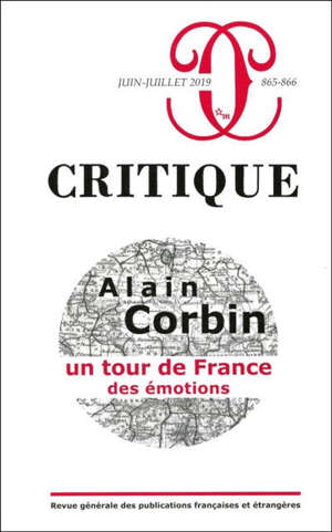 Critique. n° 865-866, Alain Corbin : un tour de France des émotions