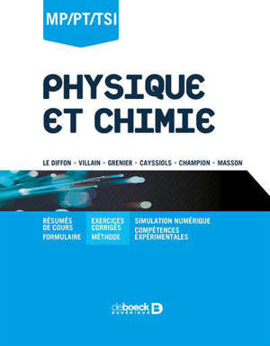Physique et chimie : MP, PT, PSI
