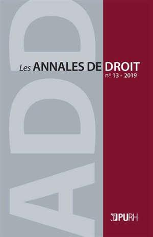 Annales de droit (Les). n° 13