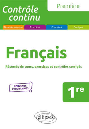 Français 1re : nouveaux programmes