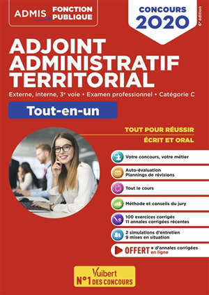 Adjoint administratif territorial : externe, interne, 3e voie, examen professionnel, catégorie C : tout-en-un, concours 2020