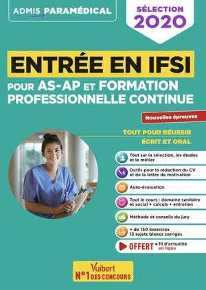 Entrée en IFSI pour AS-AP et formation professionnelle continue : tout-en-un : sélection 2020