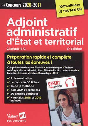 Adjoint administratif d'Etat et territorial, catégorie C : concours 2020-2021