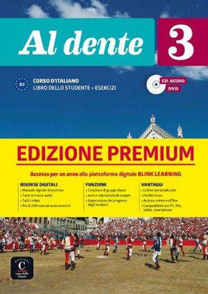 Al dente 3 : corso d'italiano B1 : libro dello studente + esercizi, CD audio, DVD