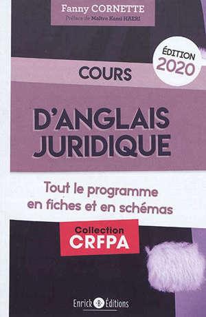 Cours d'anglais juridique : tout le programme en fiches et en schémas